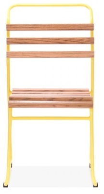 Bauhaus Chair With A Yellow Frame Front View
