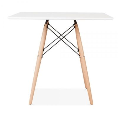Eames Inpired DSW Table With A White Square Top 1
