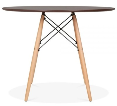 Eames Dsw Table With A Walnut Top And Beech Legs 2