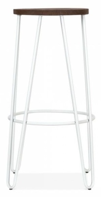Hairpin Stool With A White Frame 2
