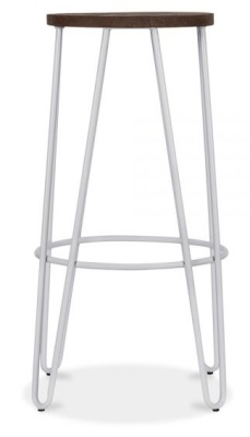 Hairpin Stool With A Grey Metal Frame 2