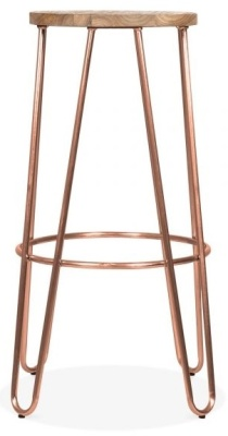 Hairpin Stool With A Vintage Copper Frame 2