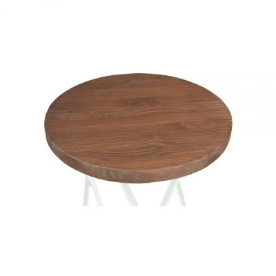 Hairpin Low Stool With A White Frame Seat Detail