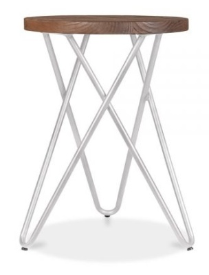 Hairpin Stool With A Grey Frame 3