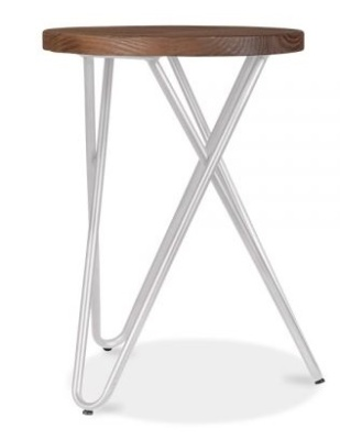 Hairpin Stool With A Greyu Frame 2