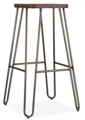 Hairpin Stool With A Square Seat A