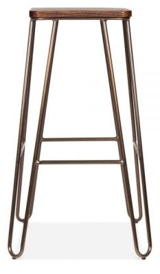 Hairpin Stool Bronze Frame 2