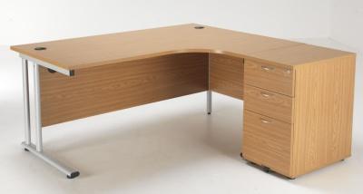 Flite Right Hand Corner Desk Bundle In Beech