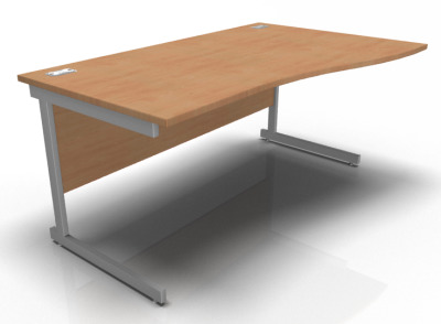 Stellar Right Hand Wave Desk In Beech