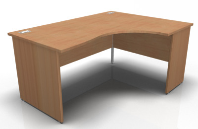 Solar Right Hand Panel Corner Desk In Beech