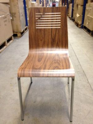 Naples Side Chair Walnut Front