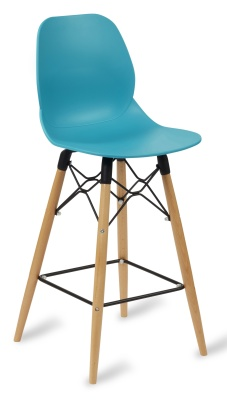 Mackie High Stoolo With A Turquoise Seat