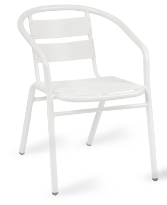 Pandora Outdoor Aluminium Armchair In White