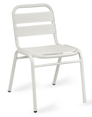 Pandora White Aluminium Side Chair