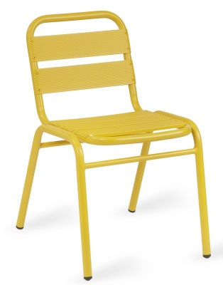 Pandora Yellow Aluminium Side Chair
