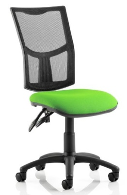 Twilight V2 Task Chair With A Green Fabric Seat