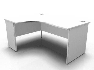 Stellar Left Hand Corner Desk White