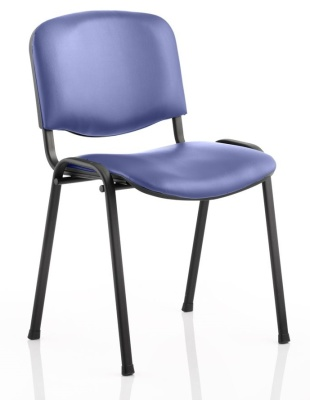 Stakka Chair Blue Vinyl Seat And Back