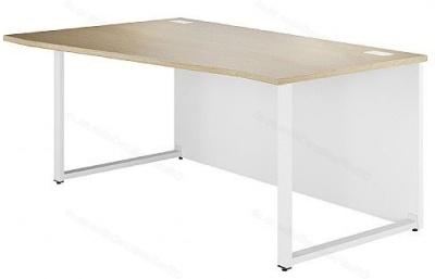 Dual Left Hand Wave Desk In Oak