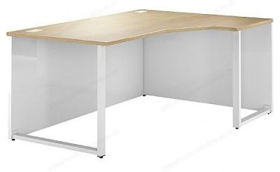 Dual Right Hand Bench Corner Desk With An Oak Top