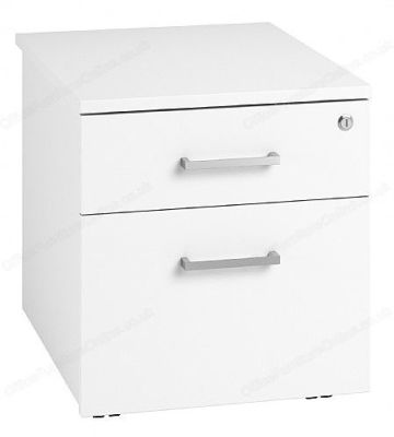 Duel Low Mobile Pedestals In White