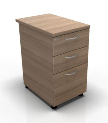 Stellar Three Drawer Desk Height Pedestal In Birch