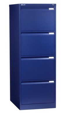 Bisley Four Drawer Filing Cabinet Ibn Oxford Blue