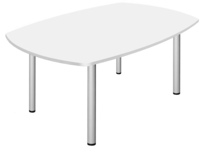 Abacus Barrel Meeting Table With A White Top