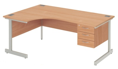 Abacus Next Day Left Hand Corner Desk And Darwers