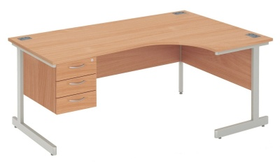 Abacus Next Day Right Hand Corner Desk And Darwers
