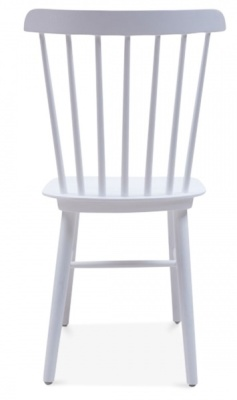 Buckingham Wooden Chair In Cool Grey Rear View