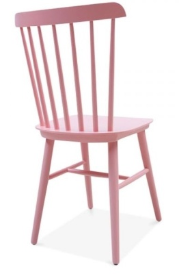 Buckingham Chair In Pink Rear Angle