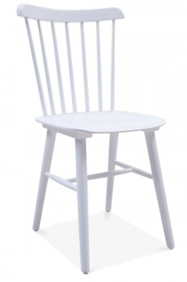 Buckingham Chair In White Front Angle