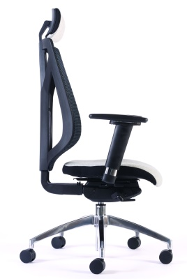 Pulse Mesh Back Chair With Headrest Taken From The Side