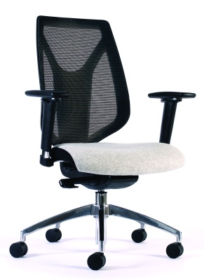 Pulse Mesh Back Task Chair Without Head Rest Front Angle