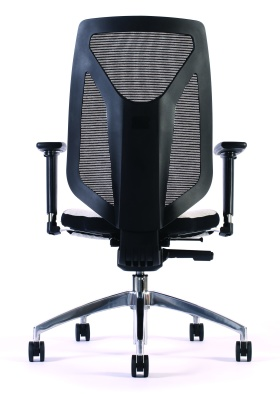 Puilse Mesh Back Chair Without Head Rest Rear View