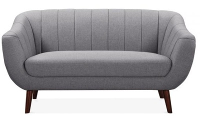 Blake Two Seater Sofa Smoke Grey Upholstery Front V Iew