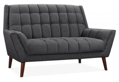 Cortina Two Seater Sofa Dark Grey Upholstery Angle View