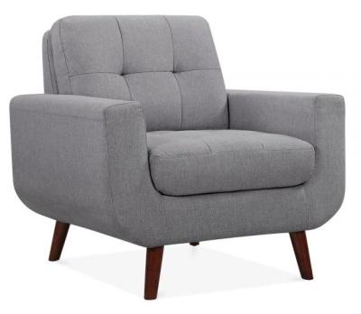 Maxim Armchair Smoke Grey Upholstery Angl;e View