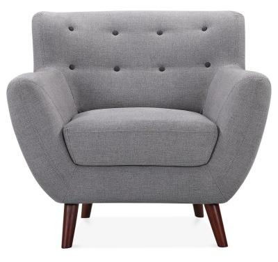 Emily Desighner Armchair Dark Grey Fabric Dace Shot