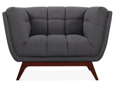 Ob Oe Designer Armchair Dark Grey Upholstery Frob