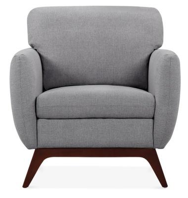 Toleta Designer Armchair Smoke Grey Front Shot