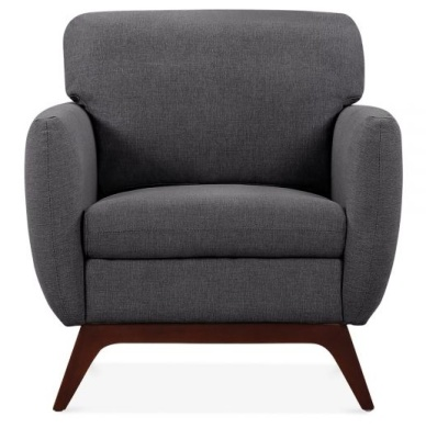 Toleta Armchair Dark Grey Fabric Front Shot