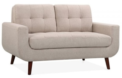 Maxim Two Seater Sofa In Cream Angle View