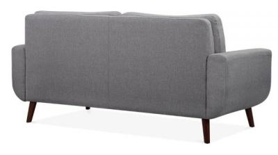 Maxim Three Seater Sofa Rear Angle View Smoke Grey