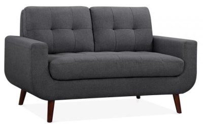 Maxim Two Seater Sofa In Dark Grey Front Angle Shot