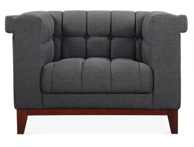 Decor Single Seater Sofa In Dark Grey Front View
