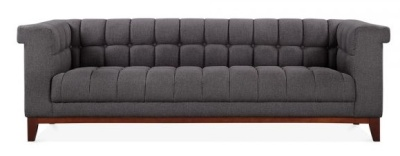 Decor Three Seater Sofa In Dark Grey Front View