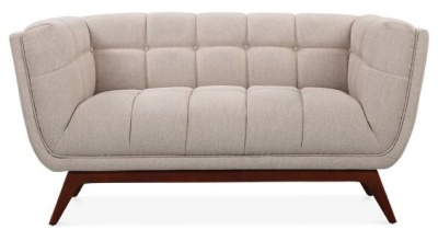 Oboe Designer Two Seater Sofa In Cream Front View