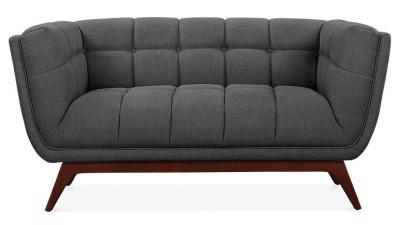 Oboe Two Seater Sofa Dark Grey Fabric